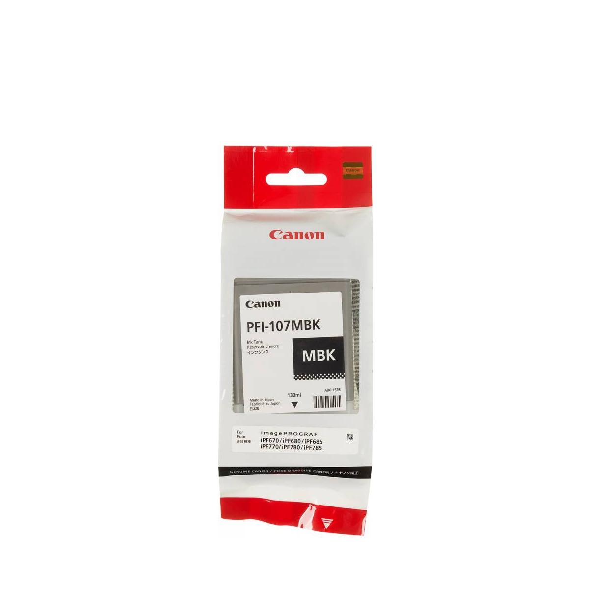 Струйный картридж PFI-107MBK 6704B001