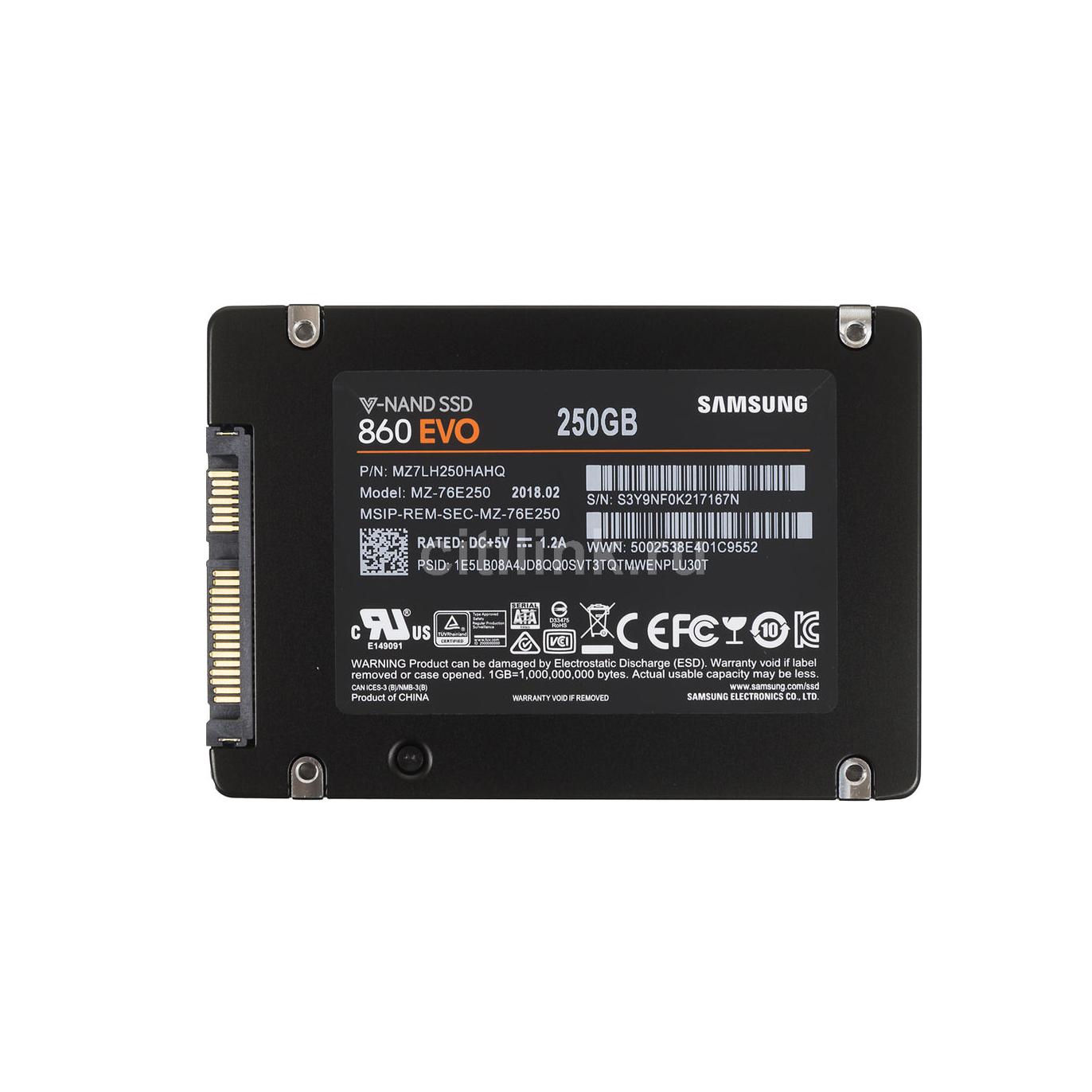 Жесткий диск внутренний 860 EVO 250GB MZ-76E250BW